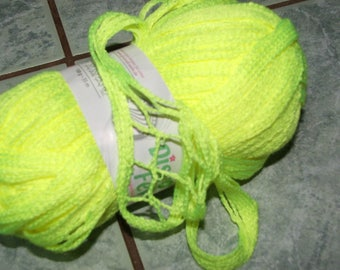 100grs for ruffled scarf - sparkling yellow color yarn