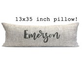 "custom pillow, word pillow, pillow with words, name gift, wedding gift, anniversary gift, gift for her, custom gift- ""The Emerson"""