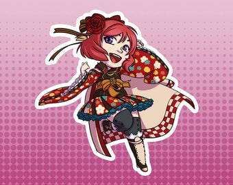LLSIF Love Live School Idol Festival / School Idol Project - Maki Nishikino Taisho Roman Large Die Cut Vinyl Fan Art Sticker