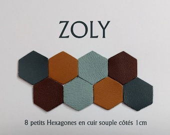 8 small hexagons 4 colors