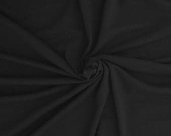 Black Modal Cotton Spandex Fabric Jersey Knit by the Yard 5/17
