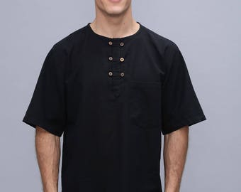 Men's summer shirt - Mens tunic - short sleeved - Kurta