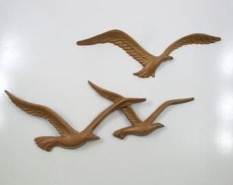 Vintage Bird Wall Hangings - Homco 1980s