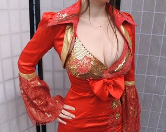 Red Cocktail Dress, Temple of Doom/ Willie Cosplay
