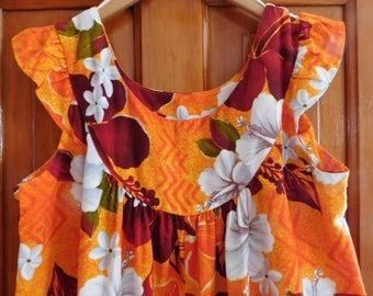 vintage Hawaiian DRESS long cotton Mu Mu