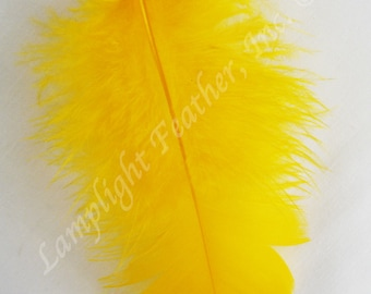 Turkey Plumage Craft Feathers - Gold, Orange, Pink, Purple, Fuchsia (Choose Color) One color per ounce package