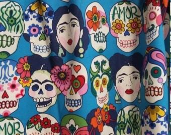 Frida Sugar skull valance with sequin beaded trim