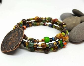 Roman Bohemian Wrap Bracelet - Roman Bracelet - Bohemian Bracelet - Wrap Bracelet