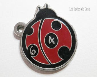 1 x metal enameled Ladybug mark 64