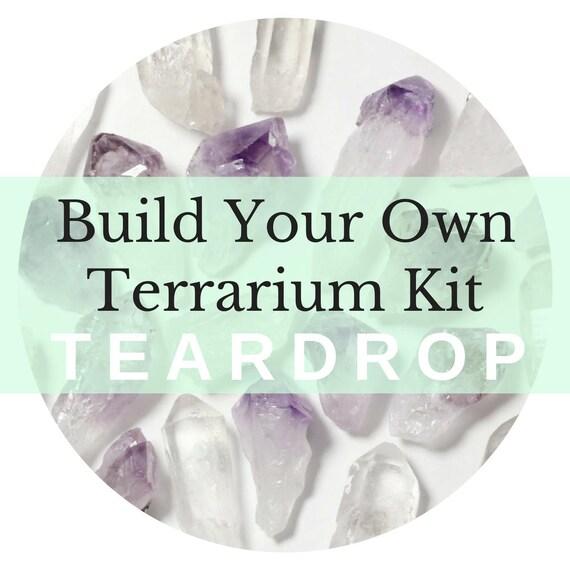 Teardrop Custom Terrarium Kit || Build Your Own Air Plant + Crystal DIY Kit