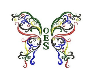 OES butterfly embroidery design