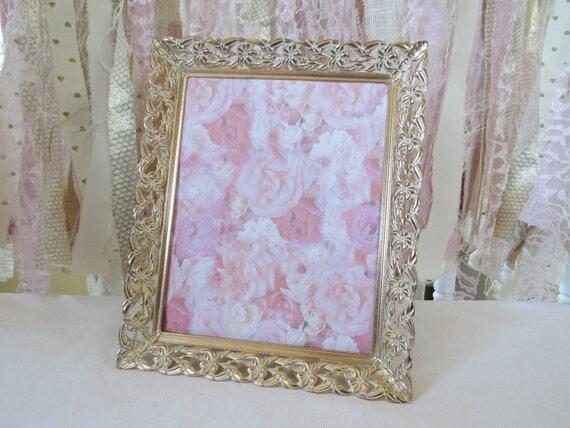 White Gold Patina French Baroque Metal Frames Ornate Vintage Antique ...