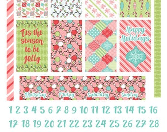 Classic Happy Planner Weekly Kit Printable Planner Stickers- Be Jolly