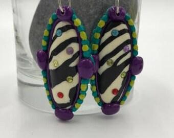 Zebra Confetti Earrings
