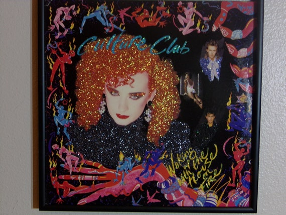 Glittered Record Album - Waking up with the House on Fire - Culture Club