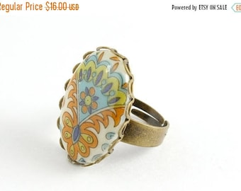 25% OFF SALE Boho Peacock Feather Ring, Boho Ring, Feather Jewelry