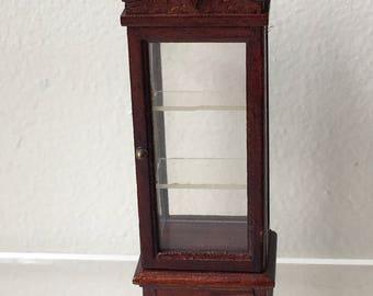 """Dollhouse Miniature  1/2"""" scale Curio Cabinet (JV)"""