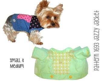 Jazzy Dog Jacket Pattern 1693 * Small & Medium * Dog Clothes Patterns * Dog Coat Pattern * Dog Apparel * Dog Harness Coat * Winter Dog Coat