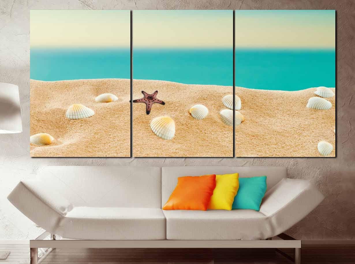 Beach Wall Art,Beach Art Print,Beach Art,Beach Seashells Art,Beach ...