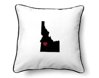 Idaho Pillow - Idaho Gift - Idaho Map - ID State Map