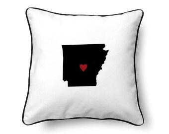 Arkansas Pillow - Arkansas Gift - Arkansas Map - AR State Map