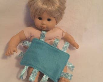 """Bitty Baby Ribbon Blankets - Doll Accessories - 15"""" Doll - Doll Blanket - Bitty Baby - Baby Doll - Cabbage Patch Doll"""