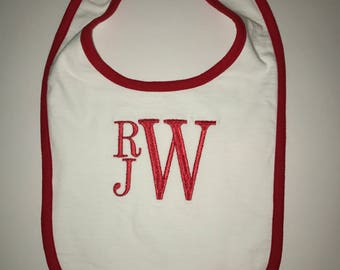 Personalized Monogrammed Baby Boy Bib