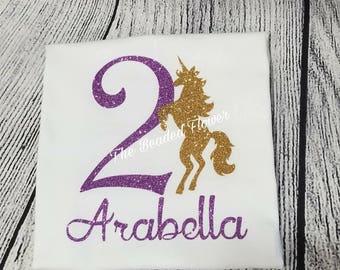 Unicorn birthday shirt 1st 2nd 3rd 4th 5th