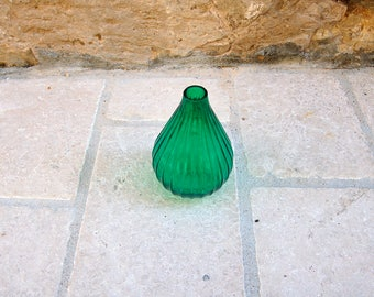 Small vase soliflore emerald green
