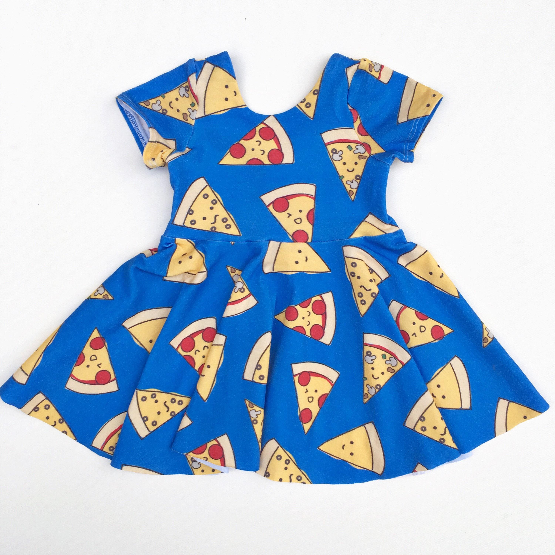 Pizza Twirl Dress girls knit dress baby girl dresses school dress
