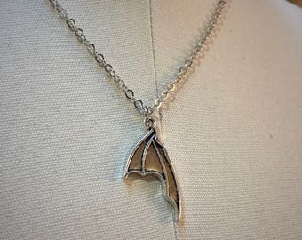 Dragon Wing necklace-Wing pendant-Bat Wing-Choose your length-silver wings-Wing charm necklace-Silver necklace-Simple necklace-Wings