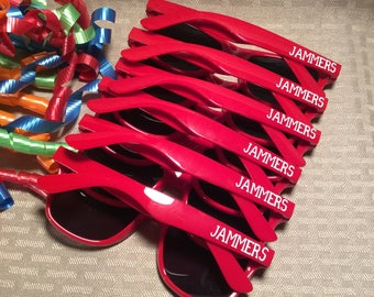 Team Sport Sunglasses, Group Event, Reunion, Social event, Party favor. PERSONALIZED and FUN!!