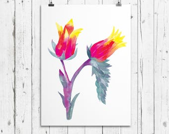 Floral Watercolour print