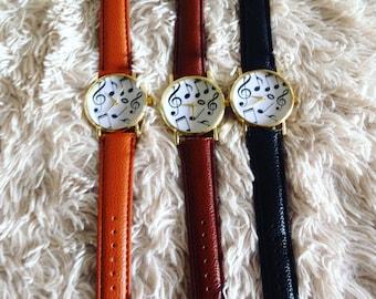 Musicians Dream Music Note Wrist Watch