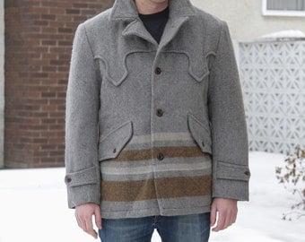 Vintage Hudson's Bay Esque Wool Pioneer 70's Pea Coat