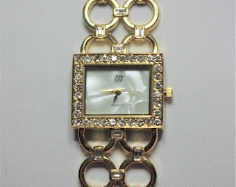 Elizabeth Taylor Watch - Gold Tone with Mother of Pearl - S2395