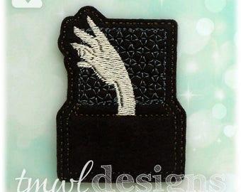"Gothic Family Hand Feltie Digital Design File - 1.75"""