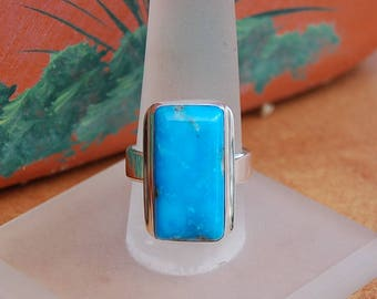 Turquoise Silver Ring size 7.5