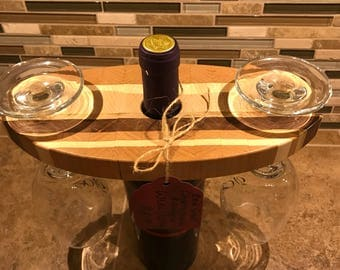 Wine Bottle and Glass Display