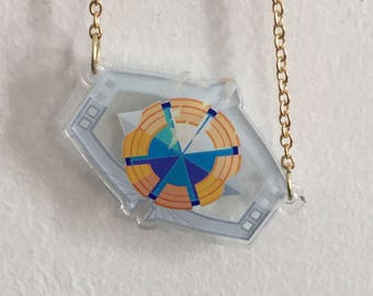 Maxtrix of Leadership Acrylic Necklace