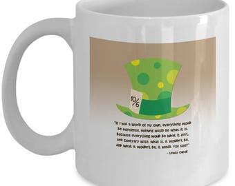 Mad Hatter Alice in Wonderland Gift Mug Coffee Cup Disney Nonsense