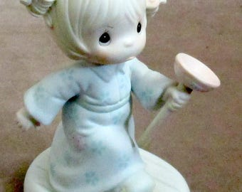 Precious Moments figurine Faith Takes The Plunge 1987