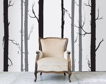 Fir Trees and Branches Nature #2 Wall Decals Graphic Vinyl Sticker Bedroom Living Room Wall Home Decor
