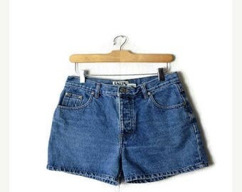 ON SALE Vintage Blue High Waist Denim Shorts from 90's*