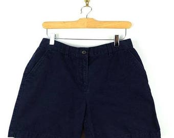 ON SALE Ralph Lauren Navy Cotton Shorts from 90's/W29*