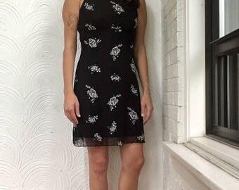 1990s Floral Slip Dress