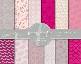 80% OFF SALE Heart digital paper, commercial use, scrapbook papers, background - PS545