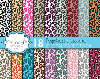 80% OFF SALE leopard animal print digital paper, commercial use, scrapbook papers, background  - PS615
