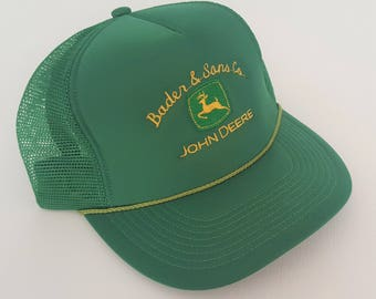 Vintage John Deere Trucker Style Snapback Hat VTG