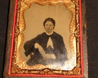 Daguerreotype Photograph in half case